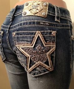 Miss Me Size 28 Mid-Rise Leather and Gold Logo Patch Rockstar Jeans MW7567B NWT #MissMe #BootCut