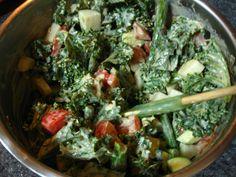 kale/veggies salad w/tahini dressing