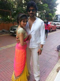 Tina Dutta with Gaurav Chopra