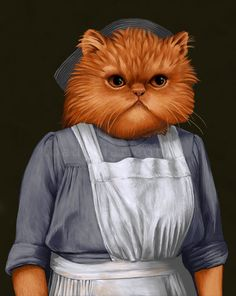 """""""Downton Abbey"""" As Dogs And Cats - Mrs. Patmore"""