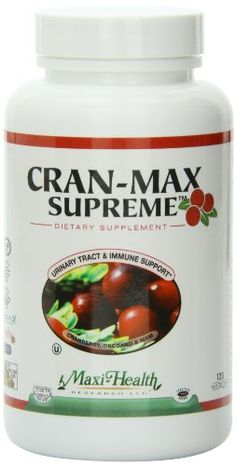 Maxi Health CranMax Supreme Urinary Tract and Immune Boost Capsules 120 Count >>> Learn more by visiting the affiliate link Amazon.com on image.
