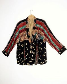Tribal Print Jacket. Bohemian Multi color duster by KheGreen