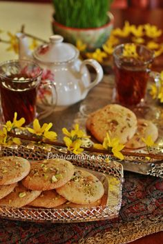 Ghorabieh are soft and chewy almond cookies that are served in Nowruz, at weddings and most Eyds in Tabriz, Iran