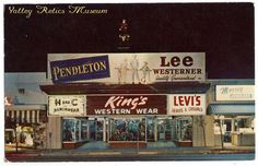 Postcard of King's Western Wear which was located at 6455 Van Nuys Boulevard in Van Nuys until 1996 when it moved to 11450 Ventura Boulevard in Studio City. After 61 years in business it closed in late 2007.