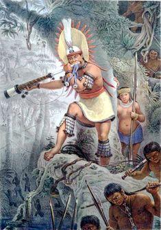 Debret - indios Coroados - sinal de ataque - Brasil. 02/09/14 (Retratos na Missão Artśitica Francesa)