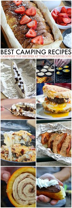 Best Camping Recipes at the36thavenue.com These are AMAZING! Pin it NOW and make them LATER! #camping