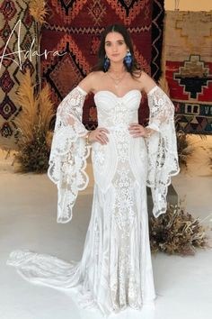 Wild Heart Behind the Scenes - A peek at bridal market with Rue De Seine Diy Wedding Dress, Wedding Gowns With Sleeves, Bohemian Wedding Dresses, Boho Bride, Dream Wedding Dresses, Wedding Ideas, Wedding Goals, Wedding Decor, Wedding Flowers