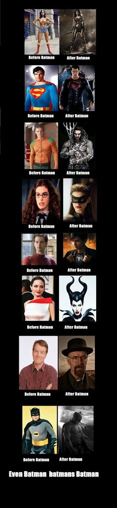 THE HOMEMADE HUMOUR: Superheroes Before & After Batman