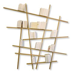 Mikado Bookcase - Natural wood - Large Oak by Compagnie - Design furniture and decoration with Made in Design