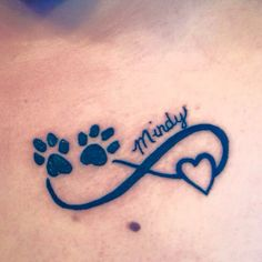 My tattoo in memory of my dog of 10 and a half years! Love it! #DogMemorial #TattooIdeasInMemoryOf