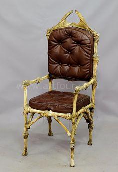 a great vintage cow bone throne ca. 1930