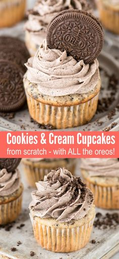 oreo cookies The best COOKIES AND CREAM CUPCAKES! With a cookies and cream cake base and cookies and cream frosting. These are incredibly moist, from scratch oreo cookies and cream cupcakes that youll make again and again for parties! Oreo Cupcakes, Yummy Cupcakes, Oreo Cookies, Cupcake Cakes, Birthday Cake Cupcakes, Moist Cupcakes, Party Cupcakes, Birthday Cookies, Cupcake Ideas Birthday