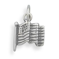 Solid 925 Sterling Silver Statue of Liberty Pendant Charm 9mm x 30mm