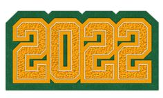Connected Year Graduation Class Patch, 2022  #chenilleyear #varsityjacket #varsityjackets #jacketpatch #graduationpatch #graduationclass #schoolaward #neffco #grads #2022