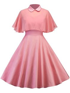 Vintage Pin Up Dress With Mesh Cape - CAMEO 2XL