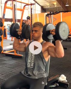 Richard (richard_duchon) takes us through an upper body workout with some Single Arm Overhead Presses. Try it for yourself and find the full workout on Gymshark Train on insta! Fitness Workouts, Gym Workout Videos, Fitness Gym, Gym Video, Weight Training Workouts, Muscle Fitness, Fitness Tips, Target Fitness, Dumbbell Workout