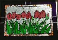 Warner Stained Glass - Jo Dominguez Online Gallery tulips in a row