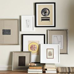 "West Elm gallery frames, one of Emily Henderson's picks for ""Best Ready-Made Picture Frames and How To Frame Them"" West Elm, Picture Wall, Picture Frames, Gallery Frames, Gallery Walls, Art Gallery, A Frame Cabin, Grafik Design, A Table"