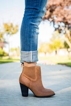 How to Wear Ankle Boots with Skinny Jeans via @PureWow