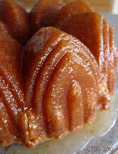 You brush the rummy glaze on and it soaks into the cake. When it sets, it turns to a flaky buttery crust- almost like a glazed cake donut...but better!