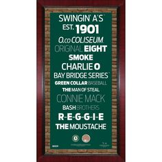 Steiner Oakland Athletics Subway Sign Wall Art 16x32 Frame w/ Authentic Dirt from O.co Coliseum
