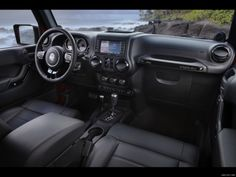 Inside of Ryan's Jeep Rubicon