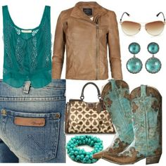 Cute outfit. Love the cowboy boots