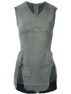 RICK OWENS DRKSHDW 'Zip On The Back' Tank Top. #rickowensdrkshdw #cloth #top