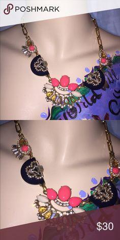J. Crew Art Deco Necklace Gently worn. Lovely art deco design. J. Crew Jewelry Necklaces