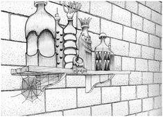 dessin réalisé lors de l'écriture de textes sur les potions, les encres et les pigments à Tahala, la cité des aigles.
