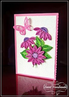Flowers and butterfly - quilling