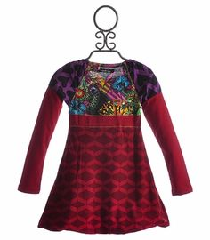 Desigual Girls Long Sleeve Dress with Bubble Hem