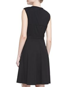 Sleeveless Seamed Ponte Dress