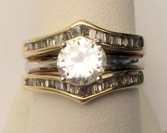 Yellow Gold Ring Guard Wrap Solitaire Enhancer (0.50ct. tw)- RG321251070097