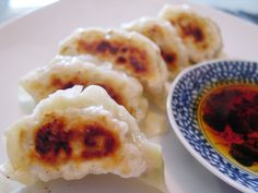 Grilled dumplings with cabbage and minced pork filling