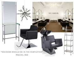 If you're a modern woman who enjoys getting pampered, you've undoubtedly heard of the latest salon trend: Blow Dry Bars. Salon Decorating, Blow Dry Bar, Beauty Salon Decor, Salon Chairs, Salon Equipment, Salon Furniture, Hair Salons, Salon Ideas, Salon Design