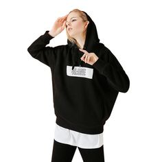 Made to Measure,Tailored to fit your body shape clothing. Big Slogan printing in front ,Hood with string,Rib contrast on cuff and hem Fall Trends, New Trends, Fashion 2017, Fashion Outfits, Sweater Jacket, Hoodies, Sweatshirts, Black Hoodie, Slogan