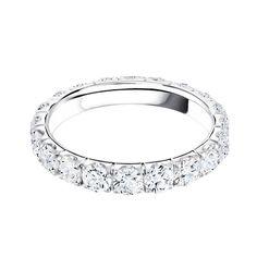 2ct classic round brilliant diamond eternity wedding band from Steven Singer Jeweler