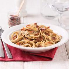 Coquilles gratinées au brocoli - Les recettes de Caty Chow Mein Au Poulet, Macaroni, Bacon, Ethnic Recipes, Sauce Tomate, Food, Sauces, Pizza, Stickers