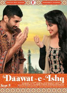 Daawat e ishq is an upcoming Hindi Comedy Romantic Drama movie directed by Habib Faisal.  Produced by Aditya Chopra under the Yash Raj Banner. In this post you will find latest upcoming movie Daawat e ishq preview and full star cast with all songs and movie trailer. It's featured actors Parineeti Chopra and Aditya Roy Kapoor in the lead roles.  The trailer of the movie has over 2.7 million views and still counting. The film is scheduled for worldwide release on 5th September, 2014