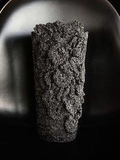 DIY-Anleitung: Vasenhülle mit Blütenapplikationen häkeln via DaWanda.com