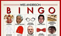 Print a set of boards for a friend and grab some poker chips to wrap this up into a complete party game. Your Wes Anderson loving pal will love this unique Bingo game and you will love joining in the fun! Bring back the board game night with this cool Wes Anderson Bingo game. (and it's FREE!)