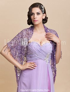 Nice Sequins Wedding/Evening Wraps/Shawls (More Colors) 2017 - $11.99