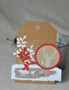 Ce trio de tags n'attend plus que les cadeaux...   Tampons FLORILEGES DESIGN à retrouver chez CREAVEA : Tampon...