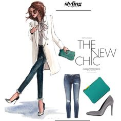 Always on trend on #skinnyjeans #Pumps #Clutch #stylist #getthelook #sketch