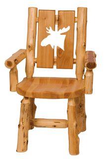 Log Cut-Out Arm Chair - Moose