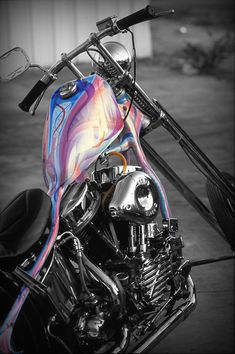 music, events, classy women, old iron and my paint work. Harley Davidson Engines, Harley Davidson Motorcycles, Custom Choppers, Custom Bikes, Custom Motorcycle Paint Jobs, Motorcycle Tank, Harley Bikes, Air Brush Painting, Bobber Chopper