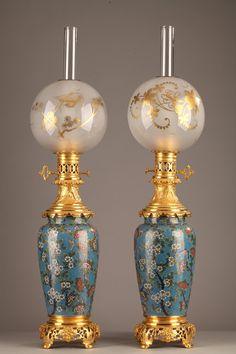 Pair of lamps Napoleon III