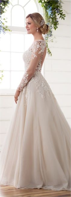 Lace Sleeves Wedding Dresses (4)
