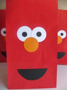 Elmo Birthday Sesame Street Cookie Monster Goody Favor Bags 10 Bags. $20.00, via Etsy.